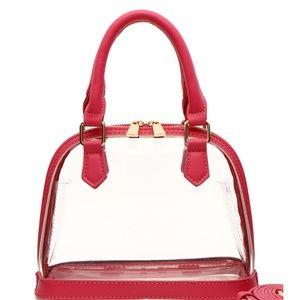 Handbags - pink clear stadium purse transparent crossbody bag